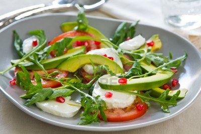 Contrast in texture food