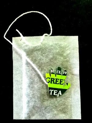 Green Tea Bag Hand created from tea bag tag