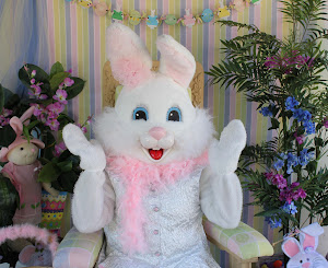 We have a NEW Easter Bunny and she made a smashing debut Easter 2013!!!
