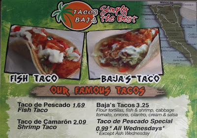 The 99 cent chef 99 cent fish taco from tacos baja for Fish taco menu