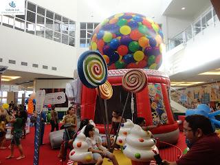 Muitas atrações para as crianças no Cariri Garden Shopping.
