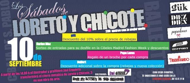 La agenda de vicky los s bados de loreto y chicote for Calle loreto prado y enrique chicote