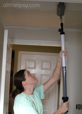 How To Paint A Ceiling The Easy Way A Little Tipsy