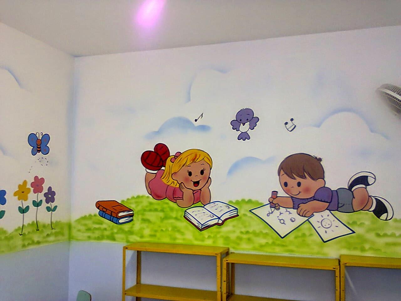 Populares Pintura De Parede Para Sala De Aula Infantil # Dahdit.com  AM78
