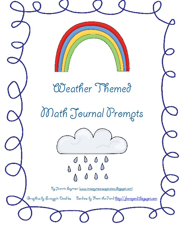 Best practices 4 teaching math free weather themed math journal