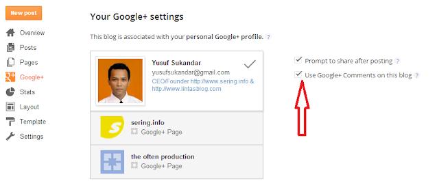 Bagaimana Cara menambahkan Komentar Google+ di Blogger