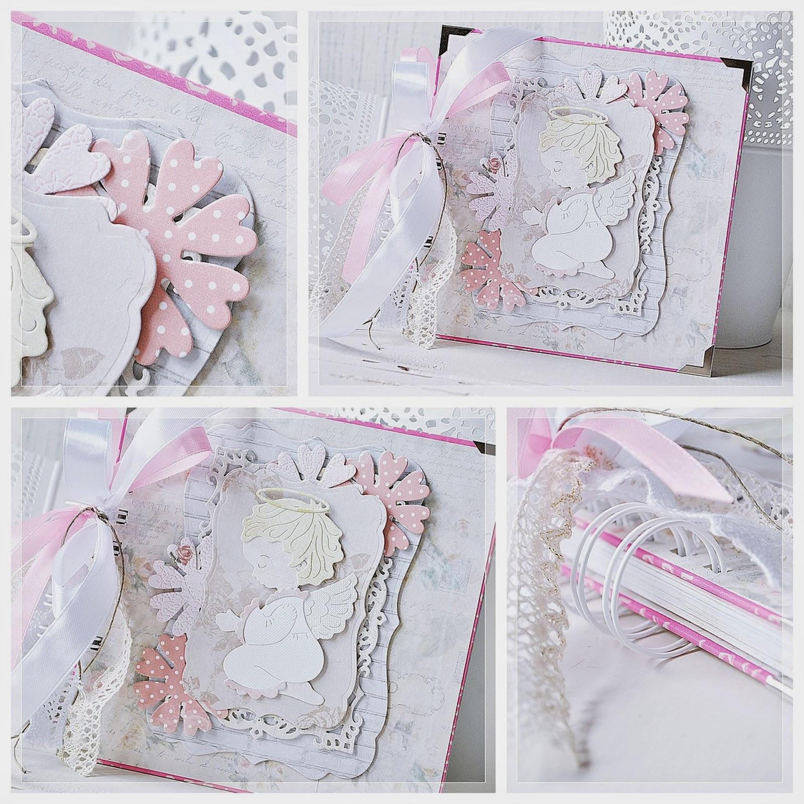 Album na Chrzest Święty dla Dziewczynki scrapbooking cottage cutz