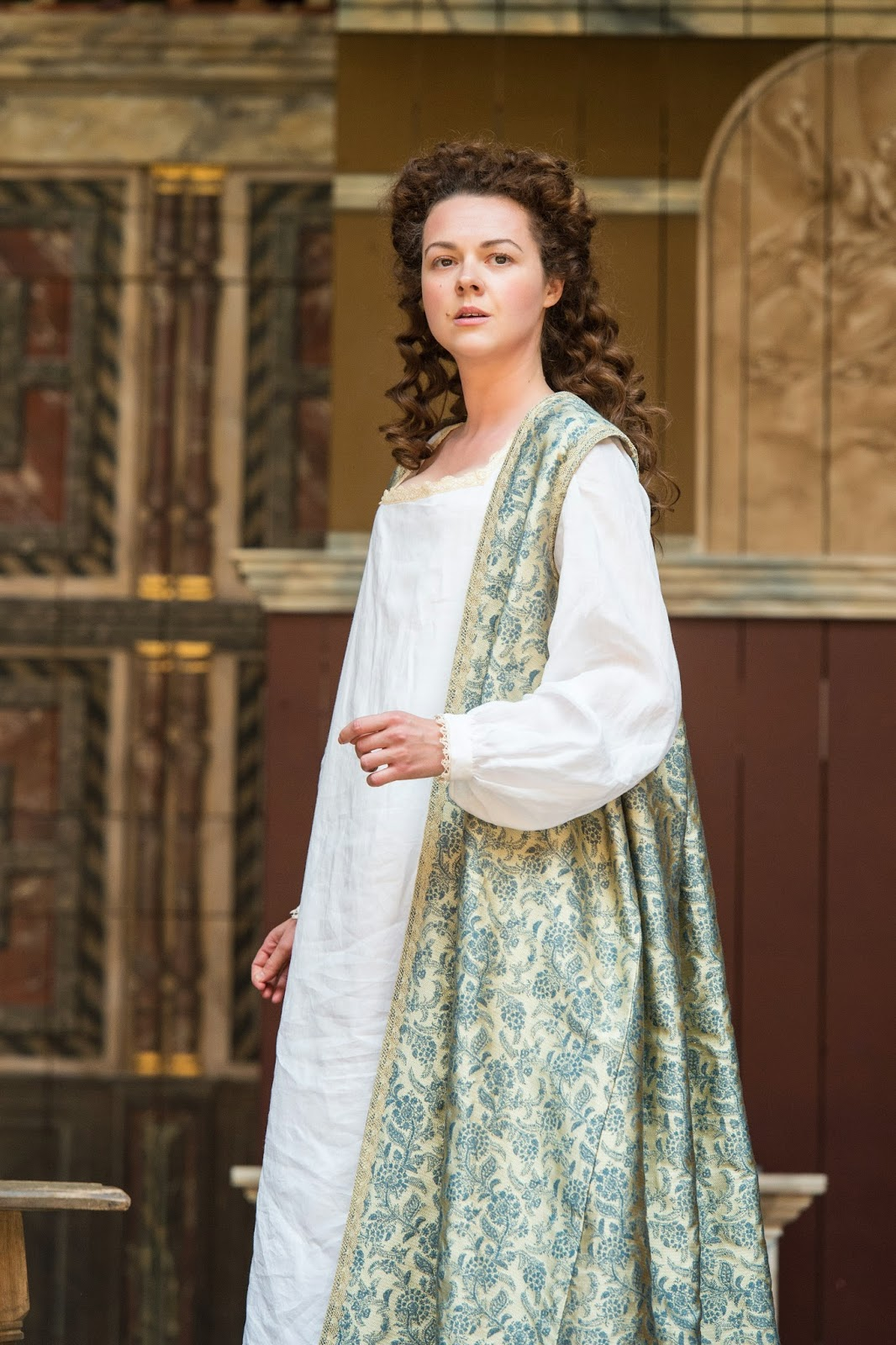 Catherine Bailey as Portia in Dominic Dromgoole's 2014 production of Julius Caesar