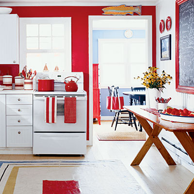 M nica diago arquitectura consejos para pintar las paredes for Red and blue kitchen ideas