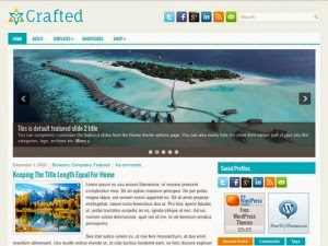 Crafted - Free Wordpress Theme