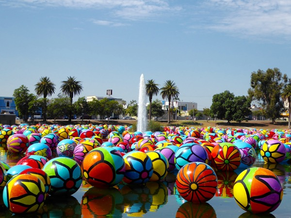 MacArthur Park floating Spheres