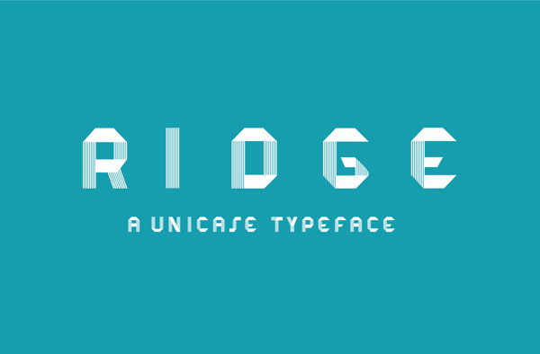 Ridge Free typeface creative font