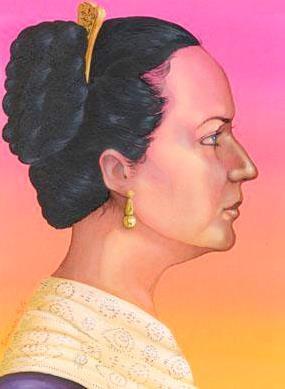Josefa Ortiz de Domínguez de perfil