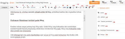 Membuat tulisan di blogger