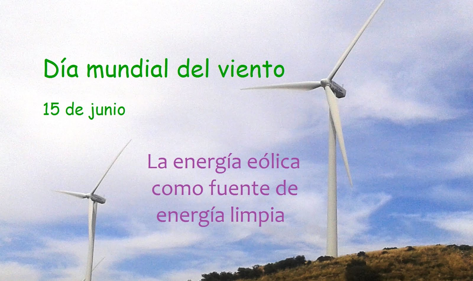 15 de junio - Día mundial del viento