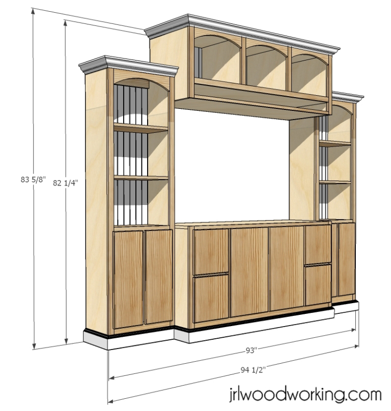 Basic Entertainment Center Building Plans