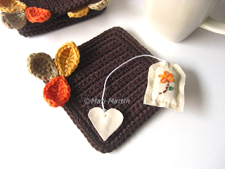 Wood Autumn Crochet Coasters