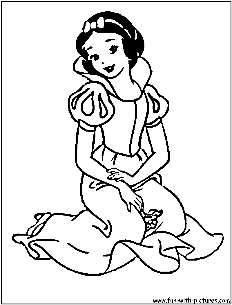 cartoons coloring pages princess snow white coloring pages
