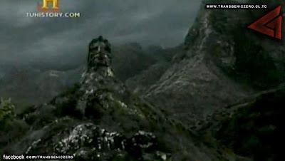 Monolito Maya en la isla Robinson Crusoe