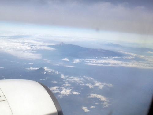 ジャワ島上空v