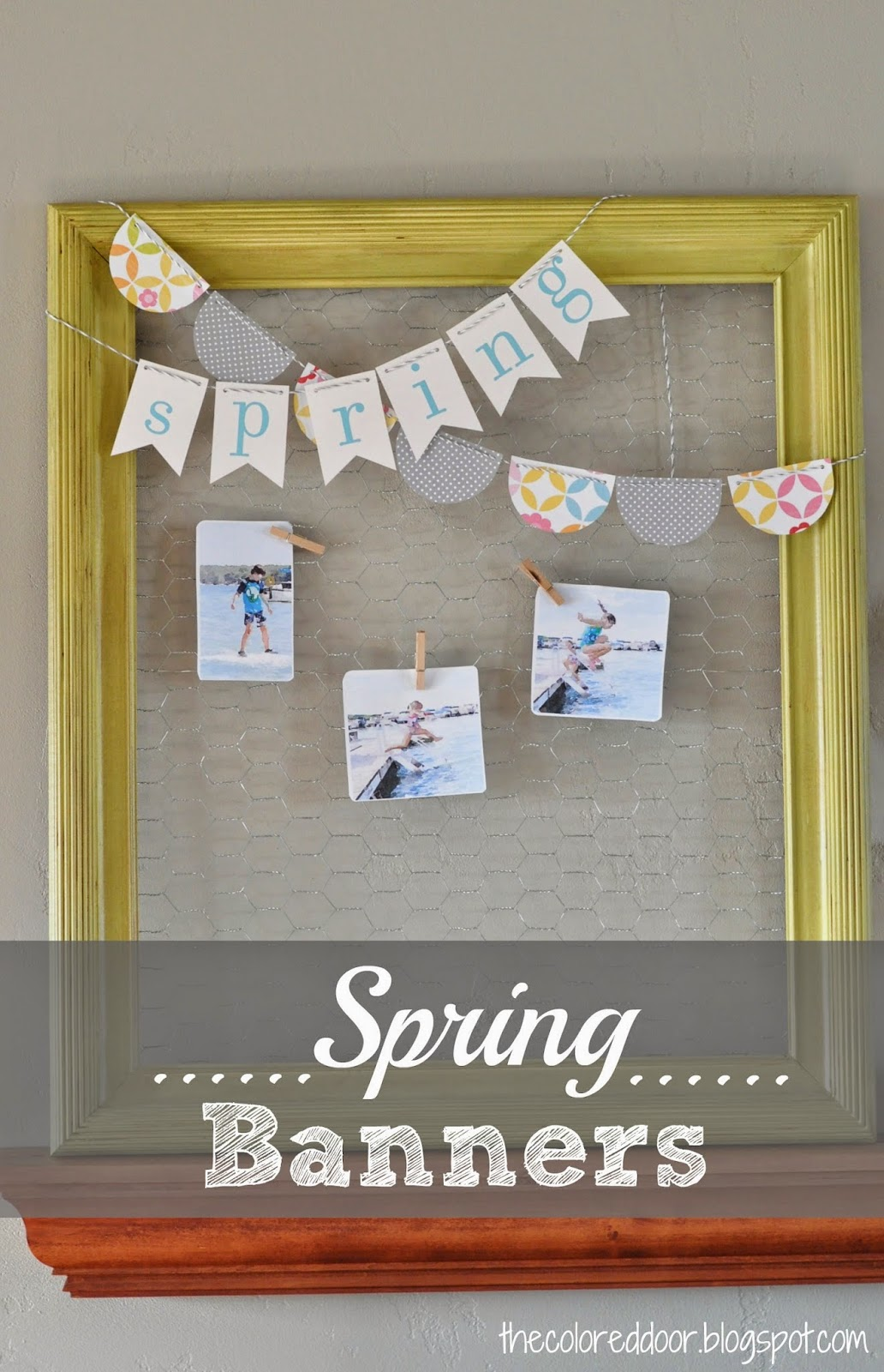 Spring banners - the colored door