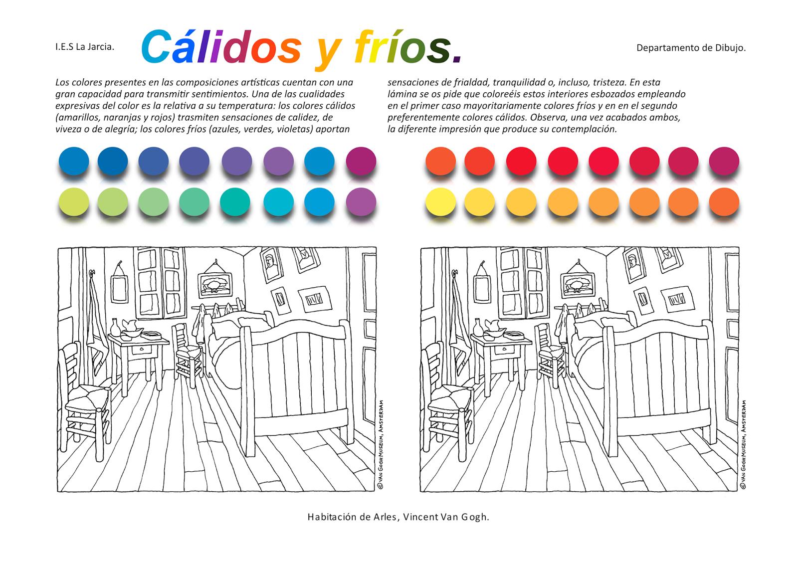 Educaci n pl stica y visual gamas c lidos y fr os - Los colores calidos y frios ...