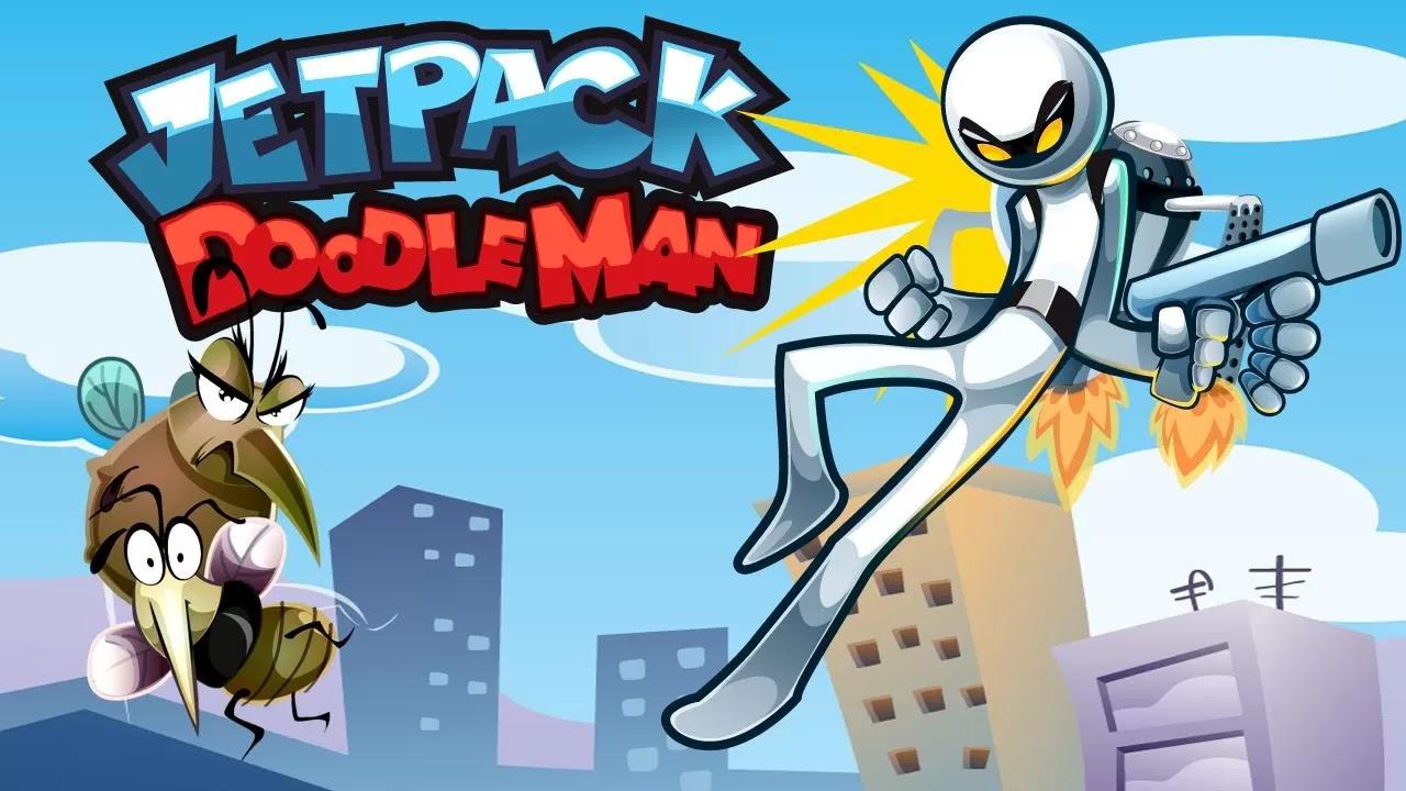 free Jetpack Man Doodle 1.2 Apk Mod Unlimited Coins