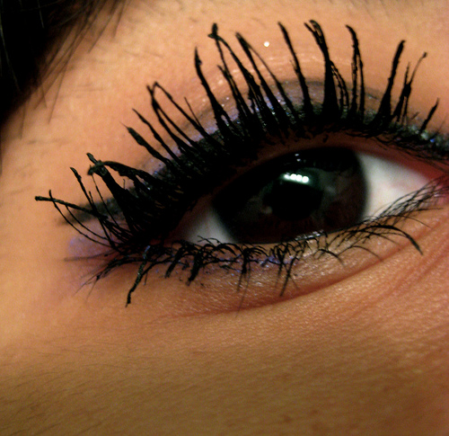Applying mascara is best done after you've applied your eye shadow and eye