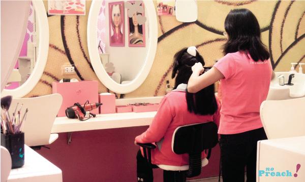 Loja da Barbie em Buenos Aires - salão de beleza infantil