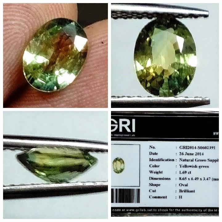natural green sapphire (TB0133) (Rp.1.500.000) nett