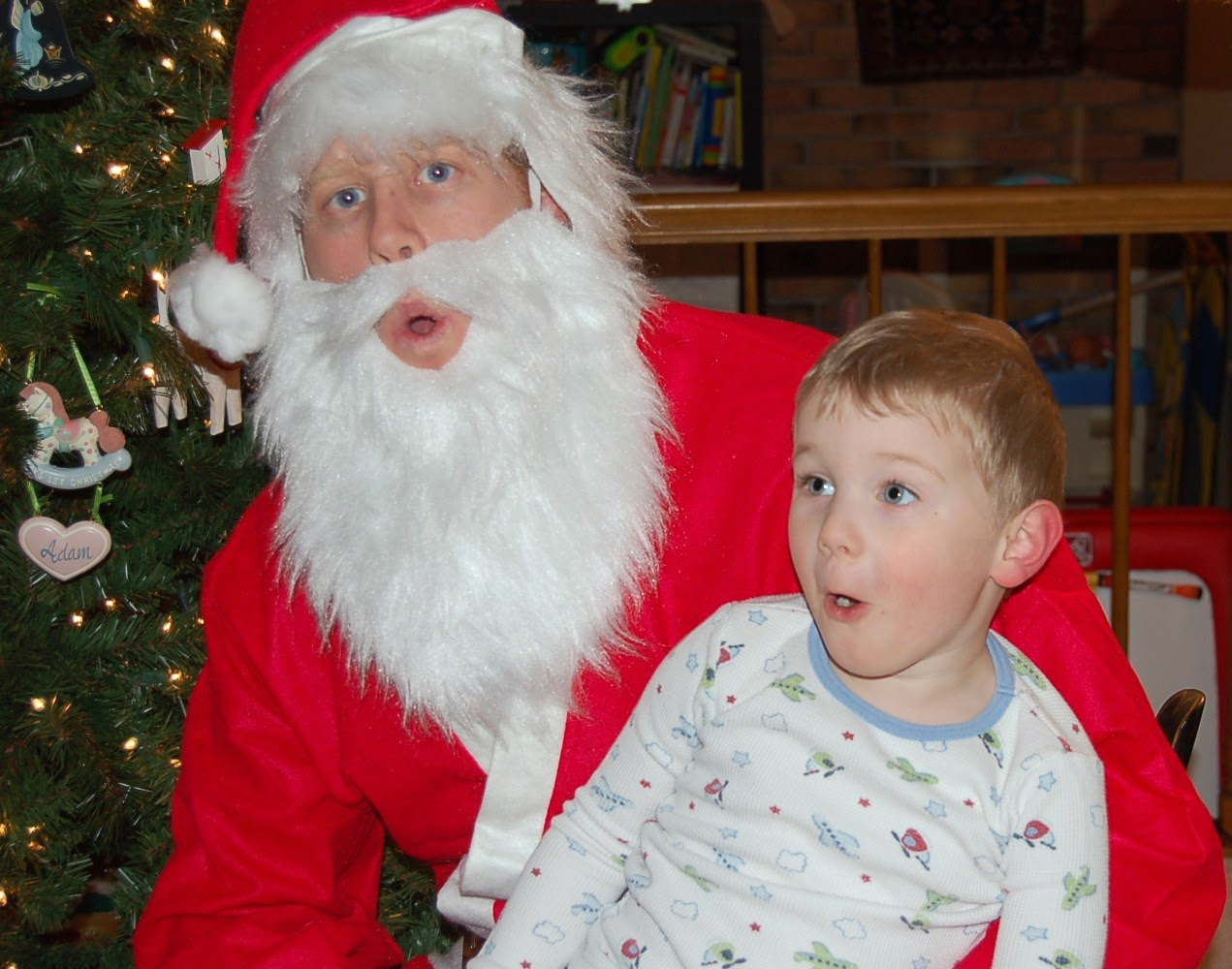 santa with kid on lap