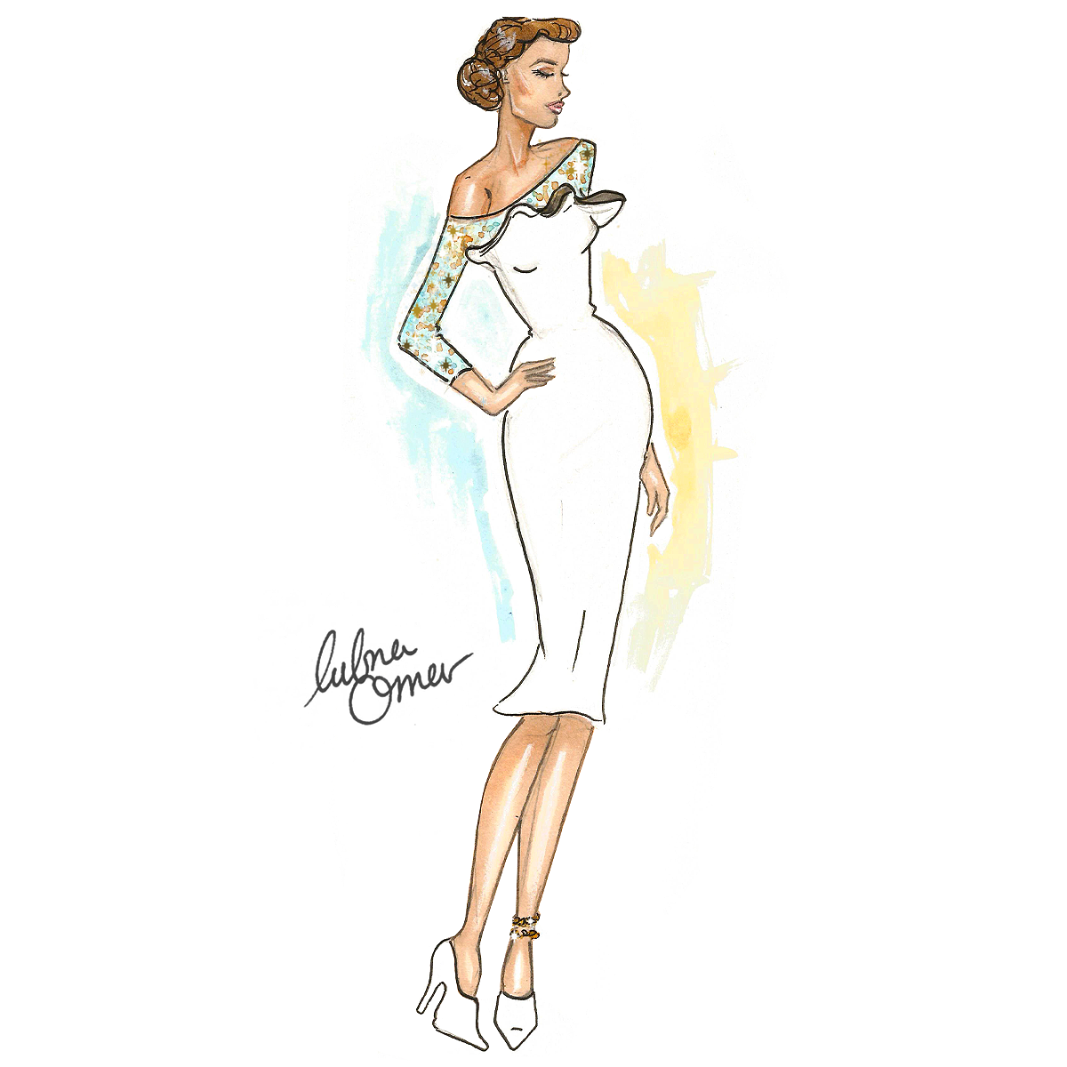 dior 2016 spring couture illustration by lubna omar