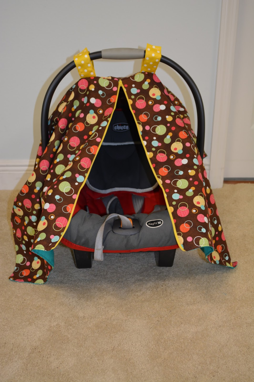 & Zippered Car seat Canopy Tutorial |Naturally Crafty Mom