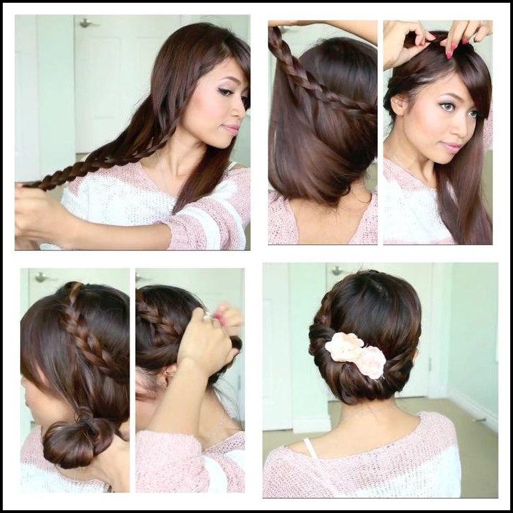 Fold lace braid hairstyle tutorial