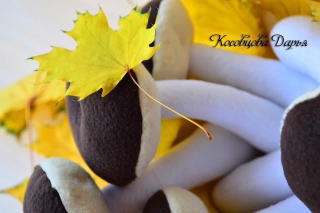 Грибочки ручной работы, грибы из флиса, текстильные грибочки для детей, развивающие игрушки для детей