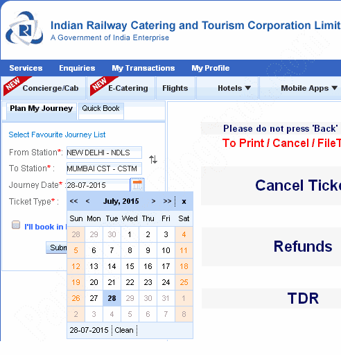 irctc has changed advance booking period from 60 days to 120 days