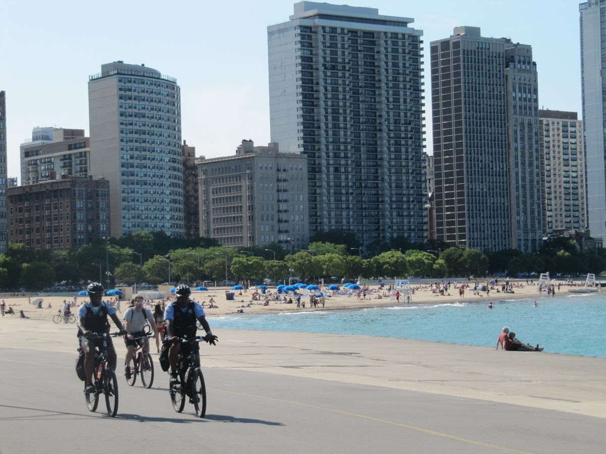Oak beach street, chicago beaches, playas de chicago