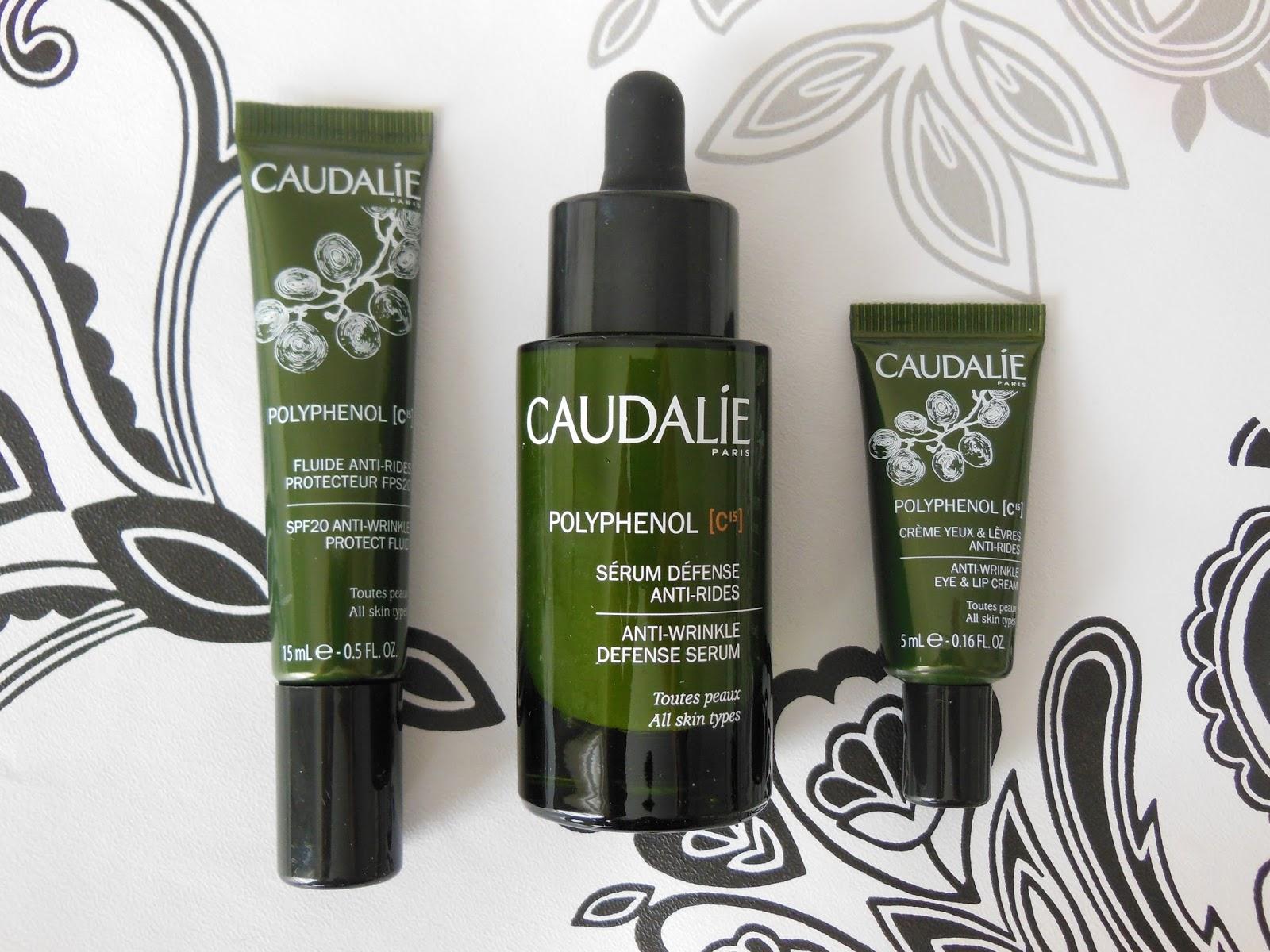 Caudalie Polyphenol C15 skincare range