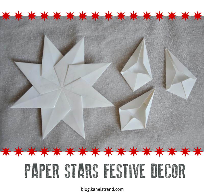 How To Make Beautiful White Paper Stars And Hang Them Around Your House