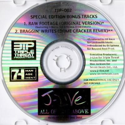 J-Live – All Of The Above Special Edition Bonus Tracks (Promo CD) (2002) (320 kbps)