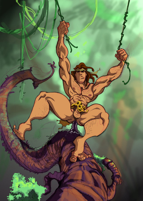 Cartoon tarzan nude eine