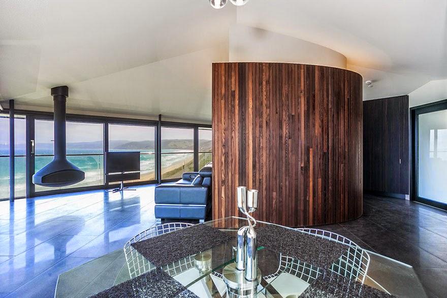 floating house Australia interior