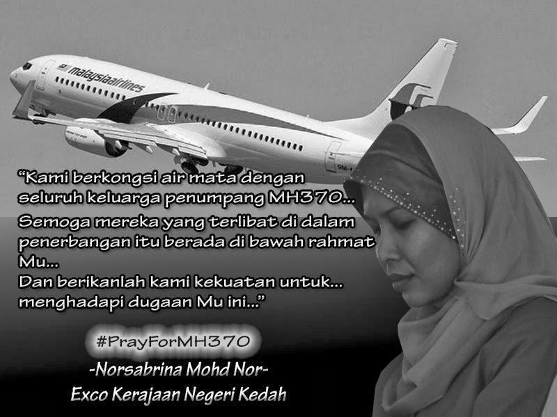 pesawat Malaysia Airlines (MAS) MH370, di Sepang, Selangor hari ini