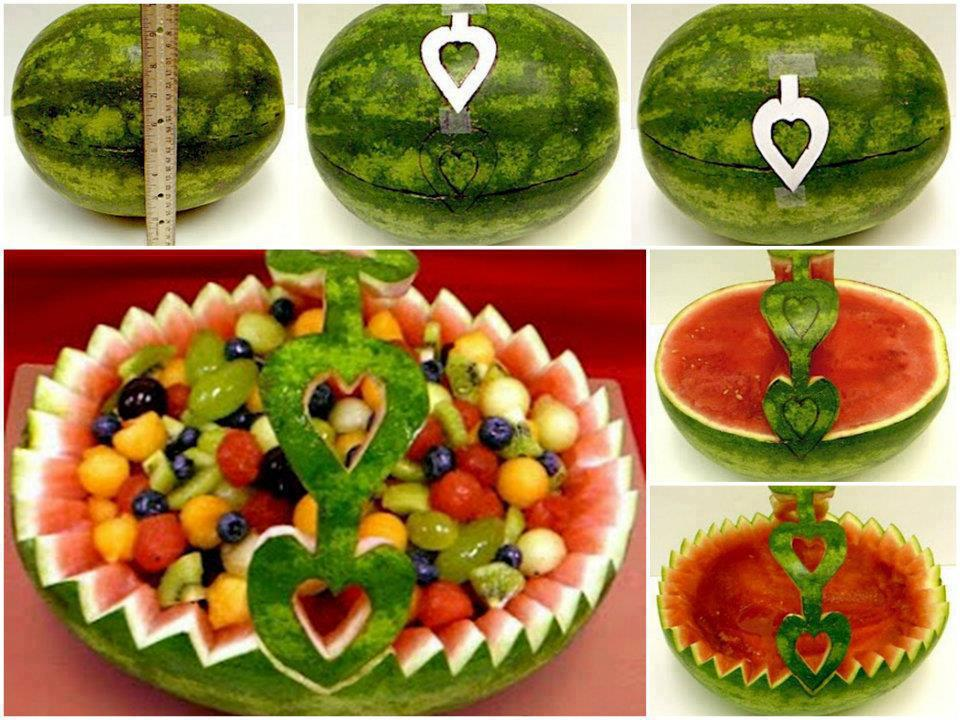 remarkable handmade watermelon fruit bowl