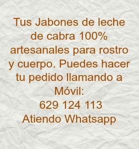 JABONES DE LECHE DE CABRA 100%