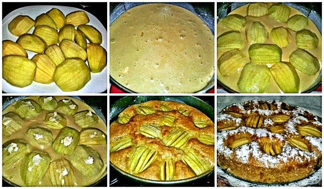 Preparación del clafoutis de manzana