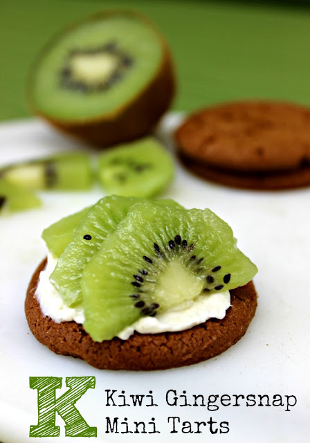 Kiwi Gingersap Mini Tarts | Cooking with Kids, a flavorful after school snack