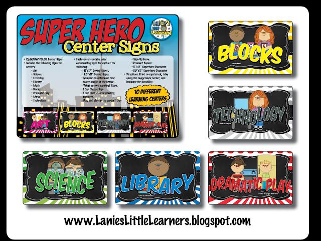 Center Signs {Superhero Theme}
