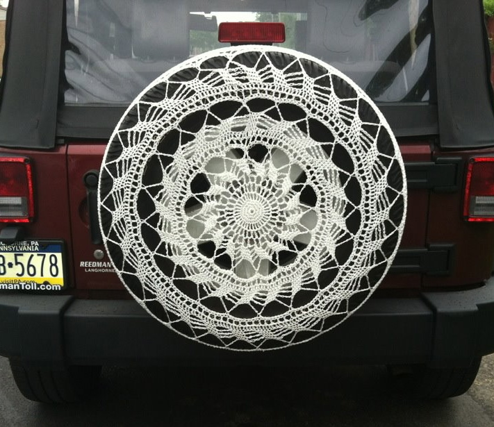 Lace Spare Tire Cover Ahimsa House