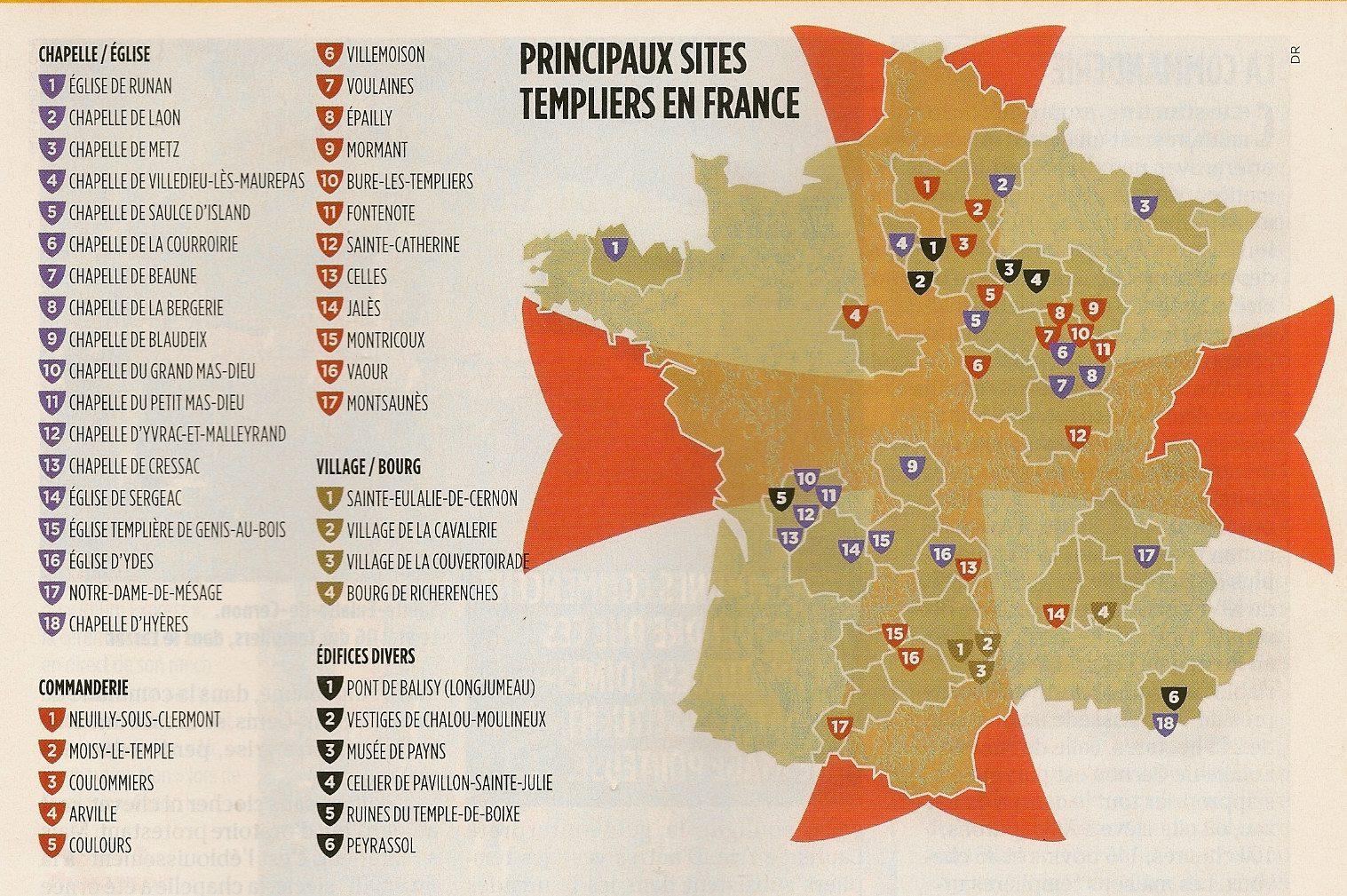 L 39 attendue les sites templiers de france for Site francais